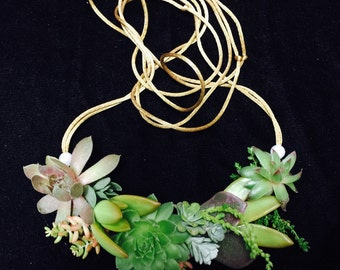 Living Succulent Necklace