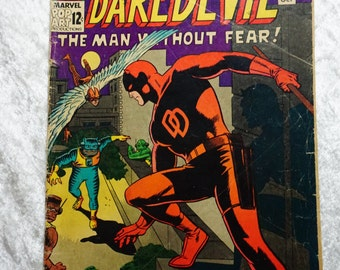 Marvel Comic,  Silver Age,  Daredevil #10,  Silver Age Comic, Collectible Books, Ready To Ship,  Vintage Comics, Graphic Novel