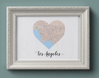 Los Angeles Heart Map (Digital Printable)