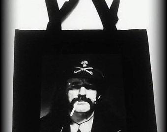 Lemmy Kilmister tote bag, Motorhead purse, Motorhead bag, Motorhead, Heavy Metal bag, Women's Heavy Metal, Heavy Metal Clothing