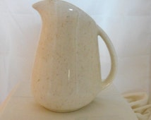 Milk Pitcher Speckled Brown Del Coronado Nasco Japan Small White