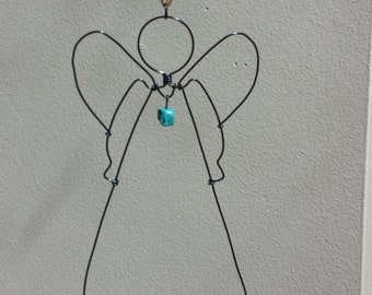 Wire Angel Wall Decoration/Wagnerite Bead