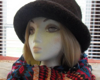 Black Thick Wool Winter Hat Free Shipping