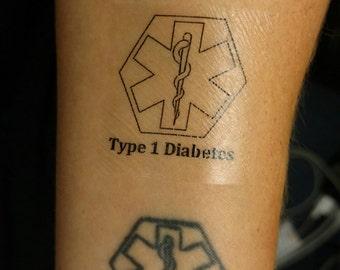 Temporary Medic Alert Tattoo