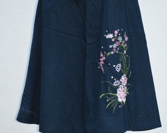 Vintage Boho Embroidered Skirt/ Mix Nouveau New York