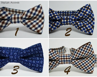 Baby bow tie Kids pre-tied bow tie Toddler bow tie Infant bow tie Plaid bow tie Gingham bow tie Cotton bow tie Vintage bow tie Eco bow tie