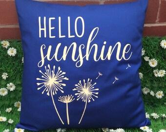 Hello Sunshine Quote Cushion Cover
