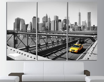 New York Canvas Art New York Skyline New York Print New York Photo New York Poster New York Wall Art New York Wall Decor NYC Yellow Taxi