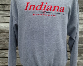 Vintage 90s INDIANA HOOSIERS sweatshirt - Large - University - soft