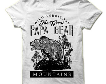 Papa Bear Shirt. Cool Father's Day Gift. Father to Be T Shirts. Cool Baby Shower Gift. Papa Bear T-Shirt.