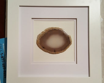 custom framed agate slice agate geode geode slice wall decor hanging or standing