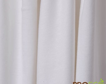 Eco Hemp Jersey Fabric (White, sold by the yard)