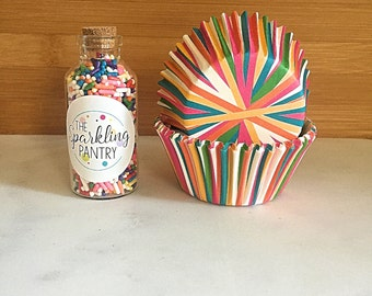 Party Mix Cupcake Kit, Decorating Kit, Multicolored Sprinkles and Liners