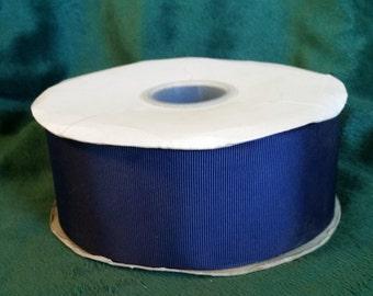 2 1/4 Inch Navy Blue Grosgrain Ribbon, 50 yards