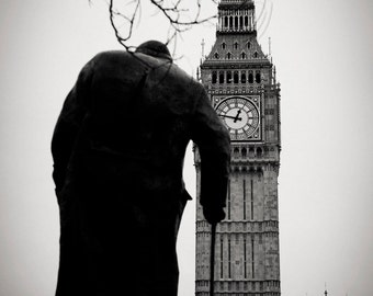 Winston Churchill, Big Ben, London 2013.