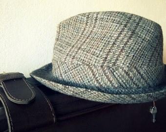 Men's hat, fedora hat, vintage hat, made in FRANCE