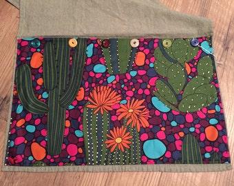 Cactus Print Accent Towel