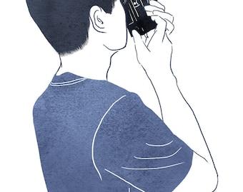 Custom Portrait Illustration, Digital Avatar, Profile Picture, For blog or website (Silhouette style)