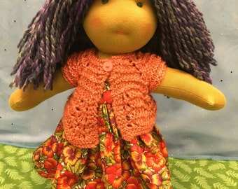 "14"" Waldorf Doll, Steiner Doll, Fabric Doll, Cloth Doll, Handmade"