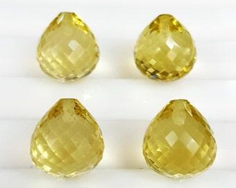 Yellow quartz tear drop, Lemon Quartz tear drop, fancy tear drop, Lemon Quartz sweet drop