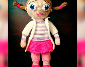 Handmade Soft Toy Doll - Knitted Dolly - Knit Toys - Hand Craft Toy - Stuffed Dolly - Handmade Toys - Knit Handmade