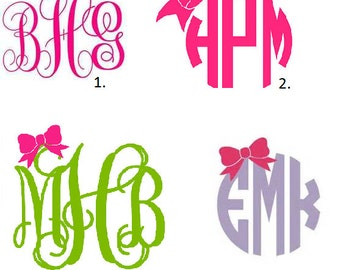 Personalized Monogram with Bow