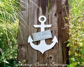 Rustic Coastal Decor, Signs, Anchor Signs, Handmade, Coastal Living, Home Decor, Wood Signs, Beach, Door Decor, Porch Decor