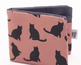 Pink Kitties Bifold Fabric Wallet
