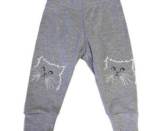 Pissy Kitty Baby Screen Printed Leggings