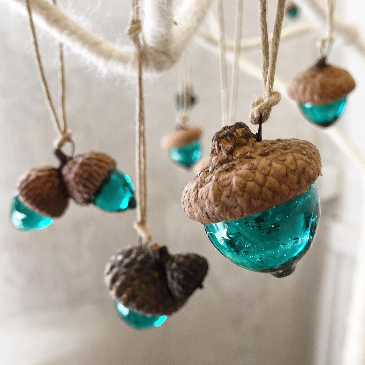 unique handmade ornaments acorn ornament handmade glass ooak unique by 4468