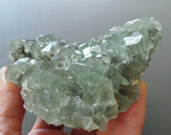 Raw Chunky Healing Crystal Green Fluorite Mineral Specimen sage green crystal