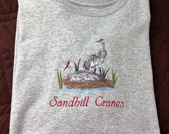Sandhill Cranes on Shore