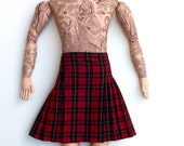 Reserved for Wendy- Tattooed Man doll in a Kilt toile plush