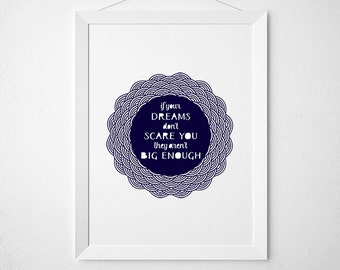 Laser Cut Wall Art: If you're dreams don't scare you, they aren't big enough