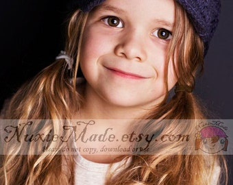 Girls Grey Newsboy Hat with Flowers, 12-24 months beanie hat, girls hat, childrens hat, crochet hat, hat for girls, winter hat, toddler hat