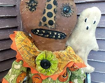 Primitive, Extreme Primitive, Pattern, Pumpkin Head, Ghost, Paper Pattern, Halloween, Fall, Autumn, Doll Pattern by Mustard Seed Originals