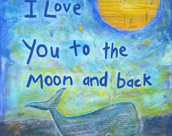love you to the moon - second edition print