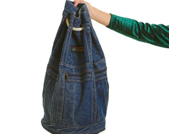 Vintage EVEREST Extending Denim Backpack Duffle