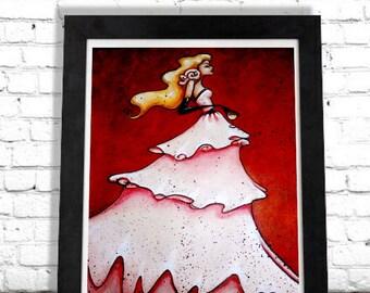 Woman Wine Art Print, Fashionista, Chic Decor, Vintage Illustration, Elegant Artwork, Fashion Illustration,Bedroom Decor,Wall Hanging,Shano