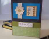 Get Well Sympathy Card Thinking of You Hand stamped