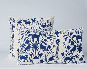 Lumbar Pillow—Otomi Print