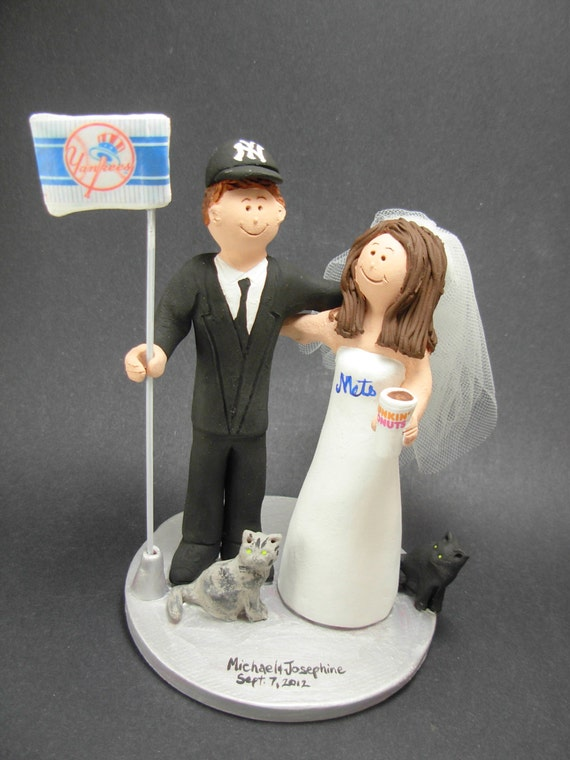 Dunkin Donuts Wedding Cake Topper Mets Baseball