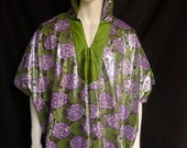 African Disco Spirit World Poncho© Cotton with Silk Lining, Menswear, Festival Clothing