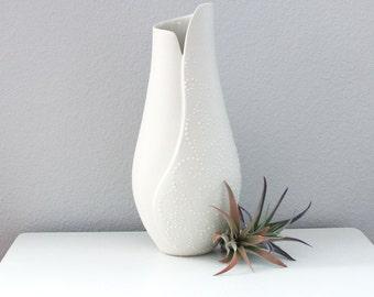 Porcelain Crocus Vase - Porcelain Sculpture - Unique Ceramic Vase - Natural Home Decor