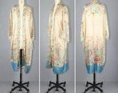 1920s / flapper / silk robe / art nouveau / LAWN PARTY vintage kimono