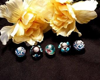 Blue Bead Thumbtacks Pushpins, Blue Bead Thumb Tacks Push Pins, Cork Board Accessory, Gift For Her, Mothers Day Gift, Office Decor