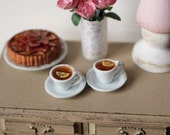Dolls House Miniature Cups of Tea in 1:12 scale