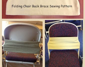 Folding Chair BACK BRACE Heavy Fabric Digital PDF Sewing Pattern