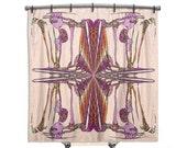 BOHO Shower Curtain, Shower curtain, Pink shower curtain, shower curtains, Shabby chic, Fabric shower curtain, shabby chic shower curtain