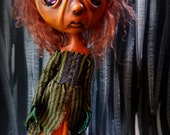 Loopy Creepy Cute Gothic Art Doll Dark Goth Pouty Pumpkin Pepper